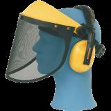 Apsauginis skydelis su ausinėmis