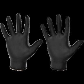 Vienkartinės nitrilinės pirštinės, juodos