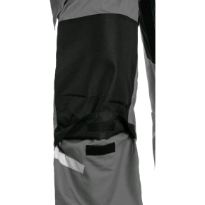 Puskombinezonis darbui STRETCH, pilkas (kišenė antkeliams)