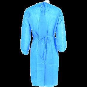 Chalatas medicininis LCS603, su raišteliais, mėlynas (nugara)