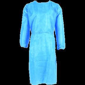 Chalatas medicininis LCS603, su raišteliais, mėlynas (priekis)