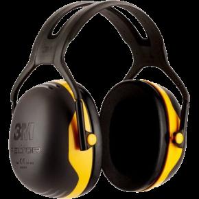 Ausinės 3M X2A, su lankeliu per galvą, geltonos