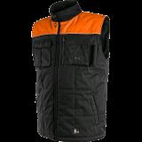 Liemenė SEATTLE, žieminė, juoda-oranžinė